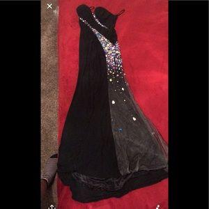 Black maxi prom dress